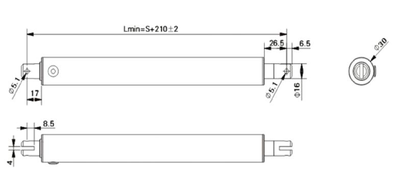 开窗器电动推杆ug30结构图