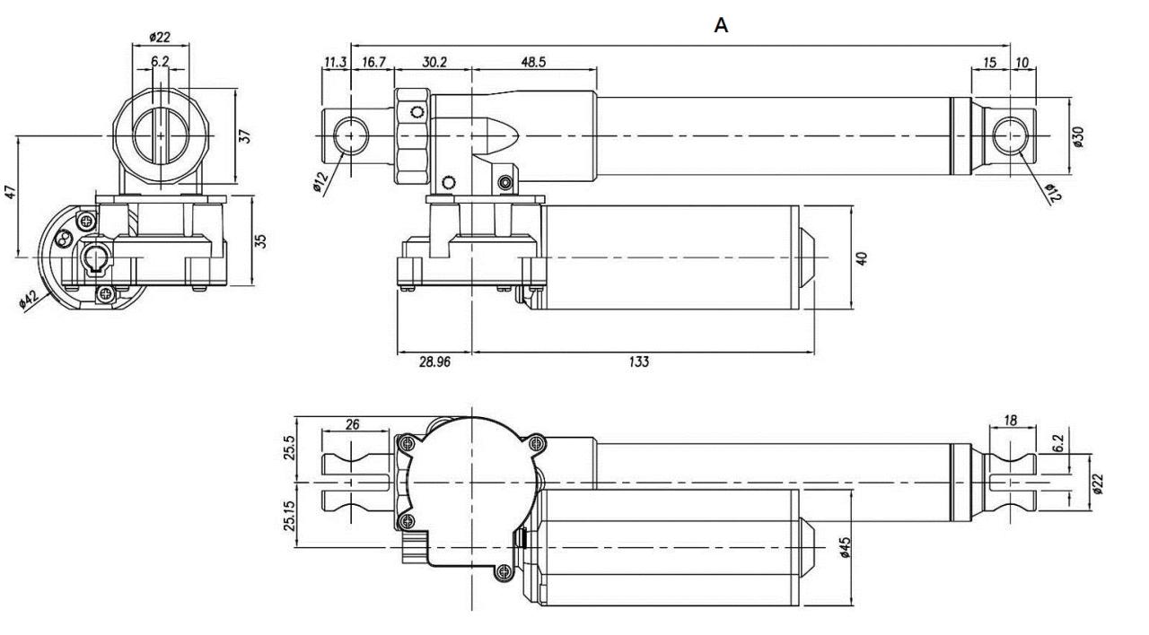 电动推杆知识  电动护理床电动推杆ug4是一支紧凑行直流电动推杆,人性